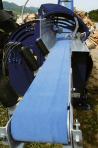 Процессор для производства дров RCA-380, подающий конвейер длиной 2,0 метра