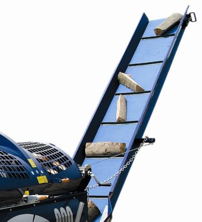 Процессор для производства дров RCA-380, транспортер для отвода дров имеет длину 4 метра